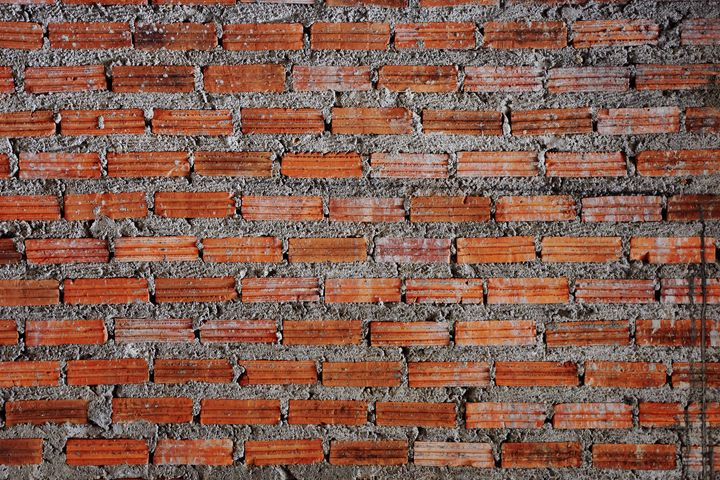Red Brick Texture Surface - casualforyou