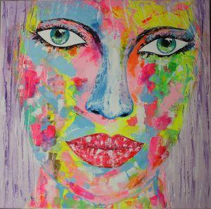 portrait coloré pop art