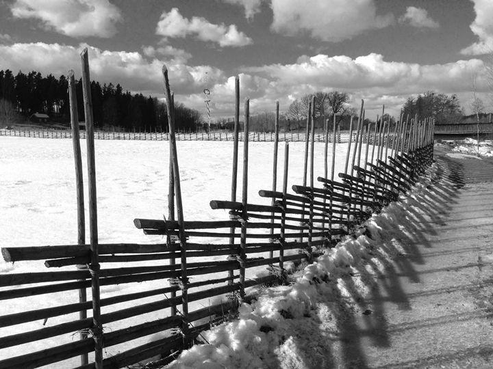 Swedish wooden fence - clifford shirley