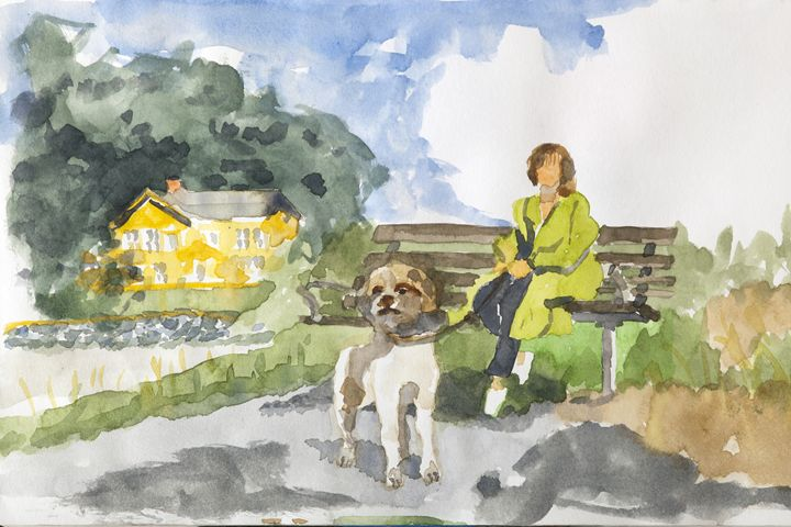 Harry ,Lisbet and yellow house - clifford shirley