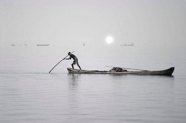 Indian boatman - clifford shirley