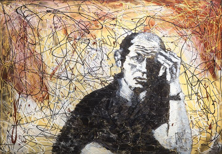 jackson pollock in the painting - clifford shirley