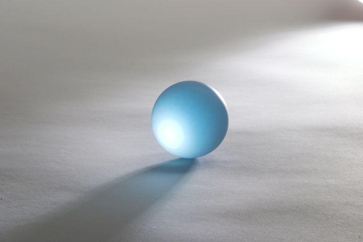 Blue glass ball - clifford shirley