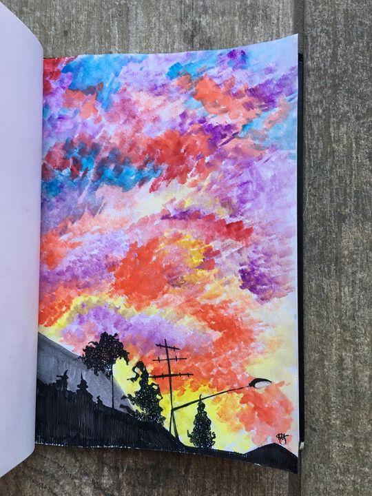 Sunset - Marina's Art