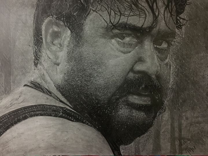 MOHANLAL - Pencil sketches