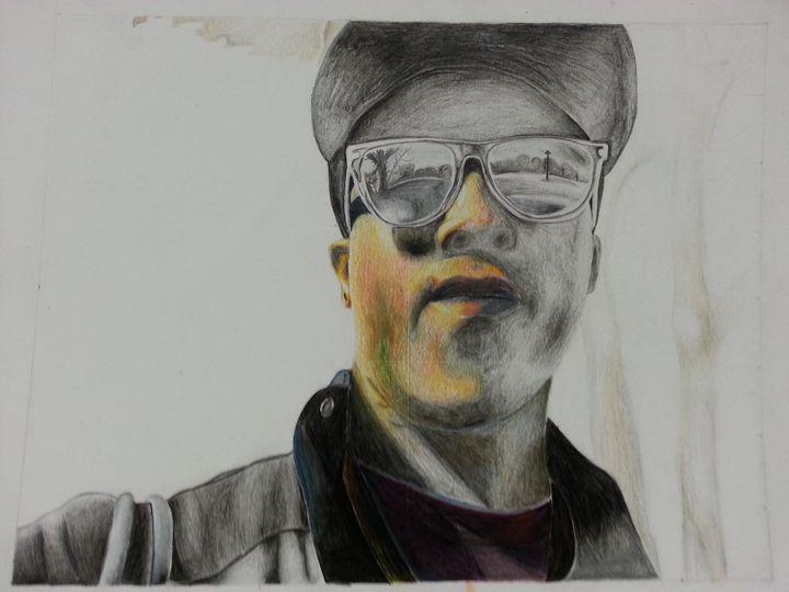 Pencil/Color Pencil Self Portrait - Tracey Bernard Mathis Jr.