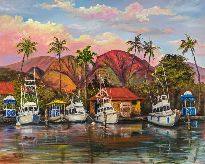 Lahaina Harbor Sunset - Darice Machel McGuire
