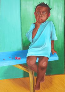 Turquoise child