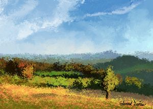 Cotswolds Countryside - Artwork by Edward T. Davies