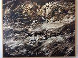 5 x 4 asphalt and alkyds on canvas