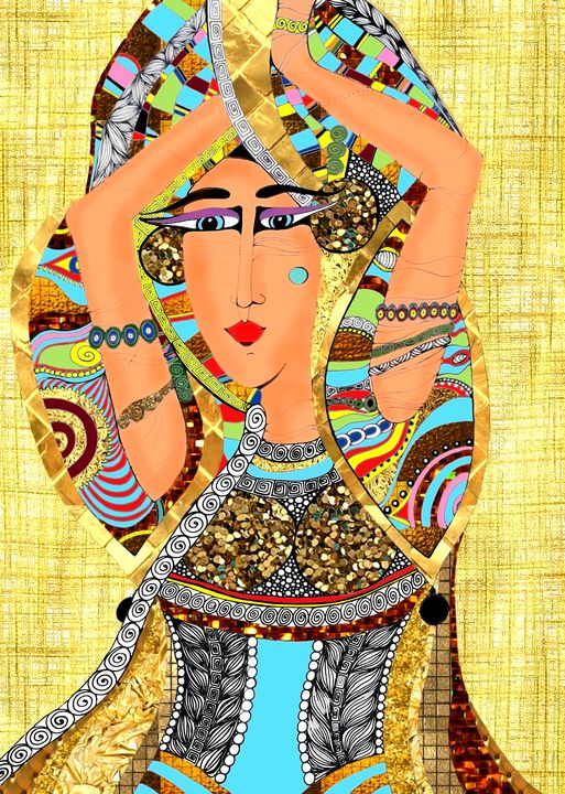Egyptian Dancer - Natalia W Urban Art