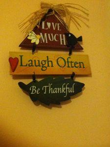 LOVE,LAUGH,THANK