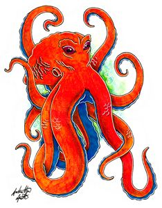 Original Octopus Flash Art