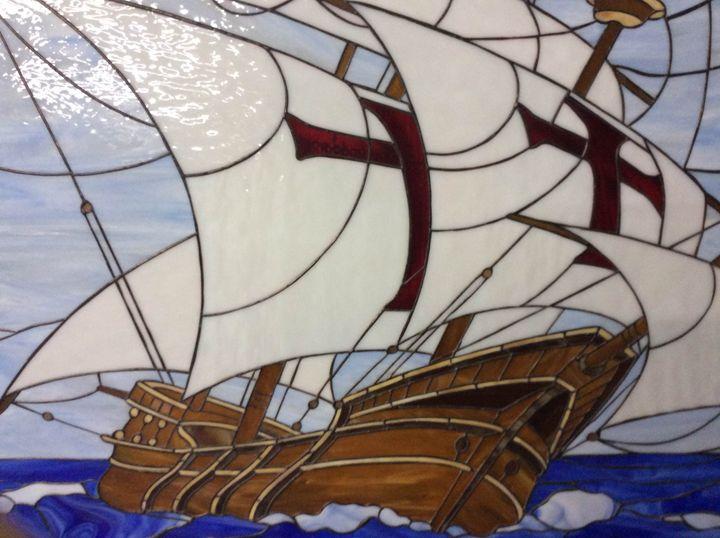 Santa Maria Columbus Ship. - Blashchuk Art Studio