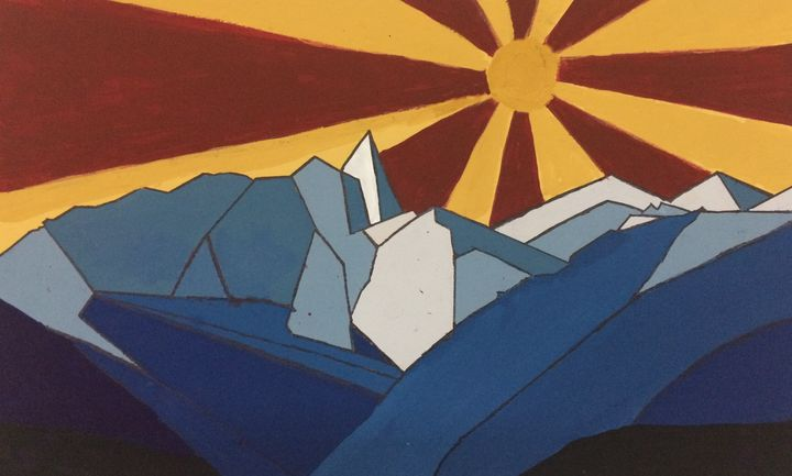 Blue Peaks at the Eastern Sun - Gabriel Swain