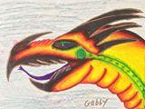 Vivid dragon in watercolor ink