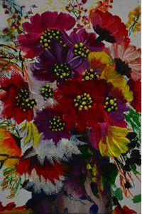 A vibrant flower pot