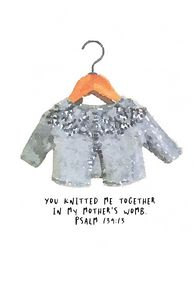 Baby nursery print, bible verse