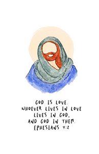 Jesus is love illustrated Christ.