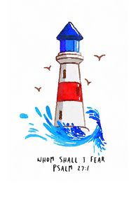 Lighthouse and bible verse