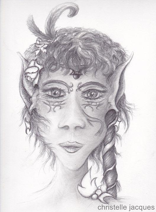 Portrait de fée - christelle jacques
