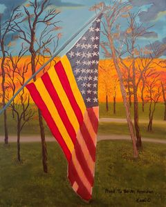Proud To Be An American - Kami O's Canvas