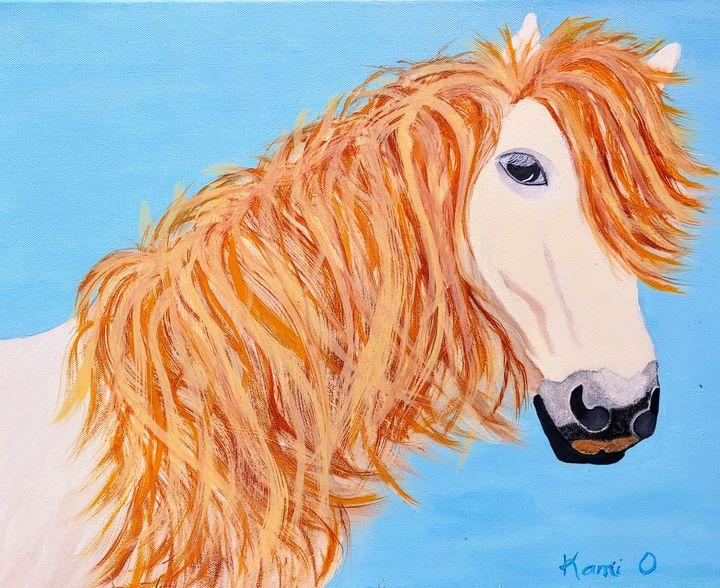 White Horse - Kami O's Canvas