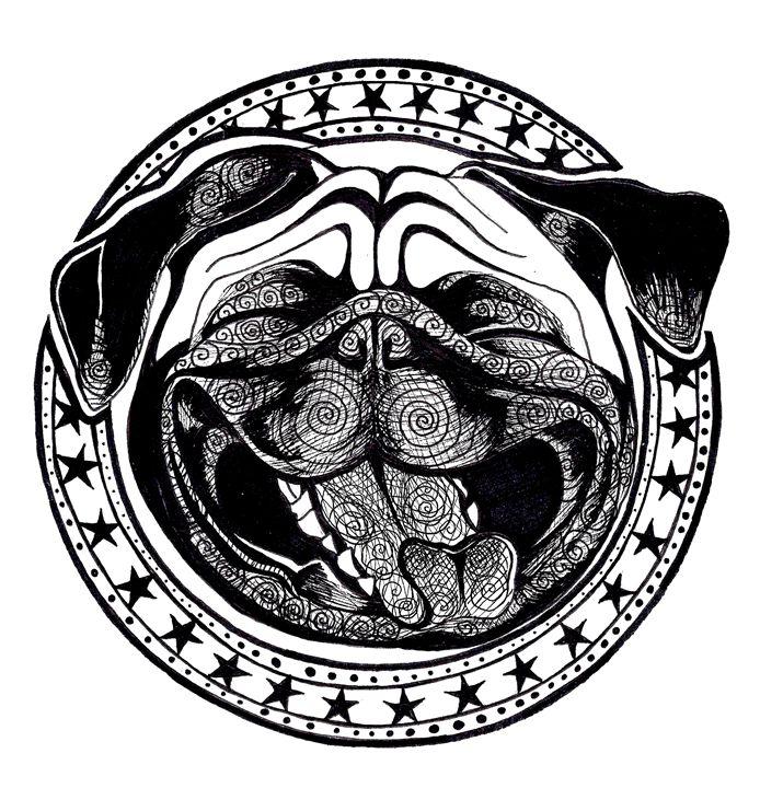Happy Pug - Deebdesigns
