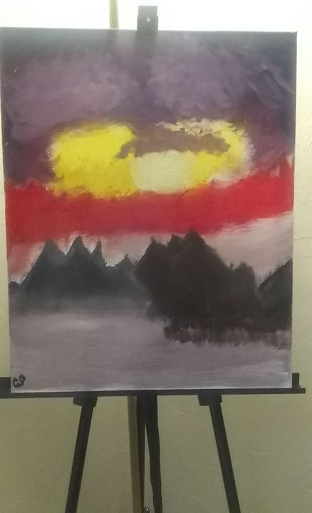Mountain Range - Beau's Art Gallery