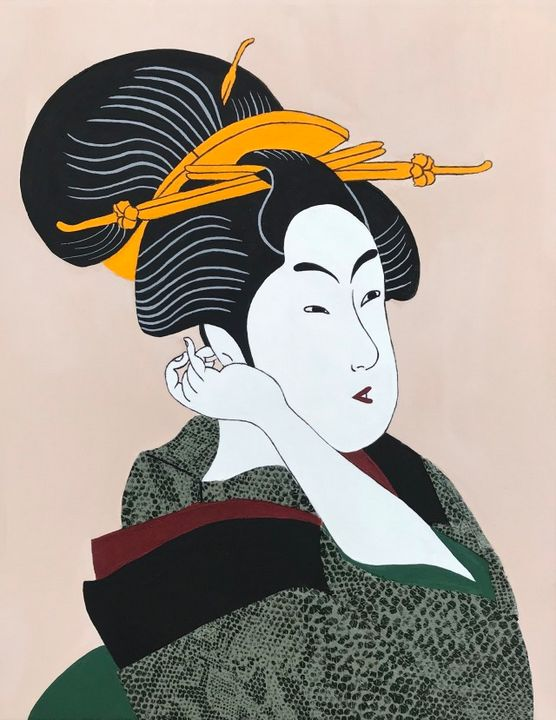KITAGAWA UTAMARO Geisha Adaptation - SNACRYLICS