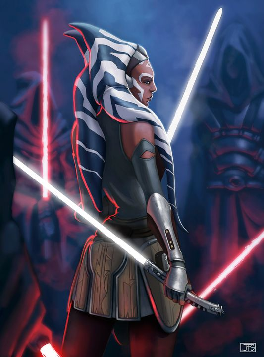 Ahsoka Tano Illustration - Santacrew Art