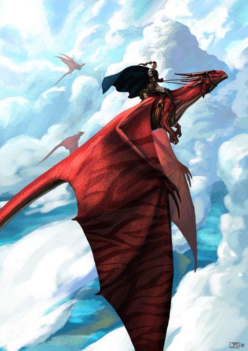 Shadow Crimson Dragon - Santacrew Art