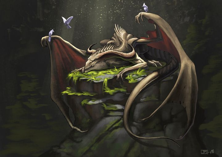 Cavern Dragon - Santacrew Art