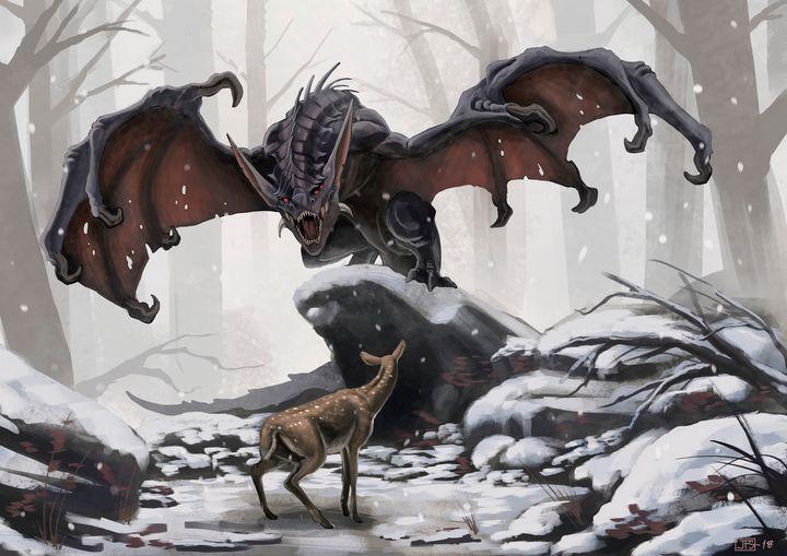 Nocturnal Dragon - Santacrew Art