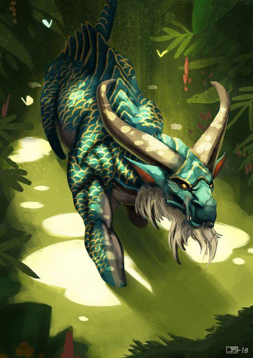 Lotus Dragon - Santacrew Art