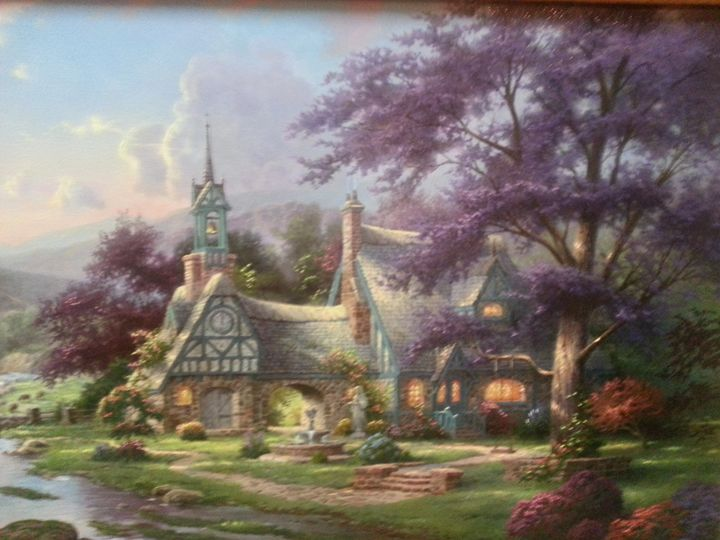 Clock Tower Cottage  by Thomas Kinka - Sherrie's Gallery