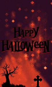 Happy Halloween illustration with a