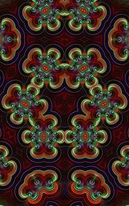 Abstract shiny kaleidoscope design