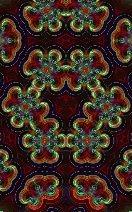 Abstract shiny kaleidoscope design - Dimy