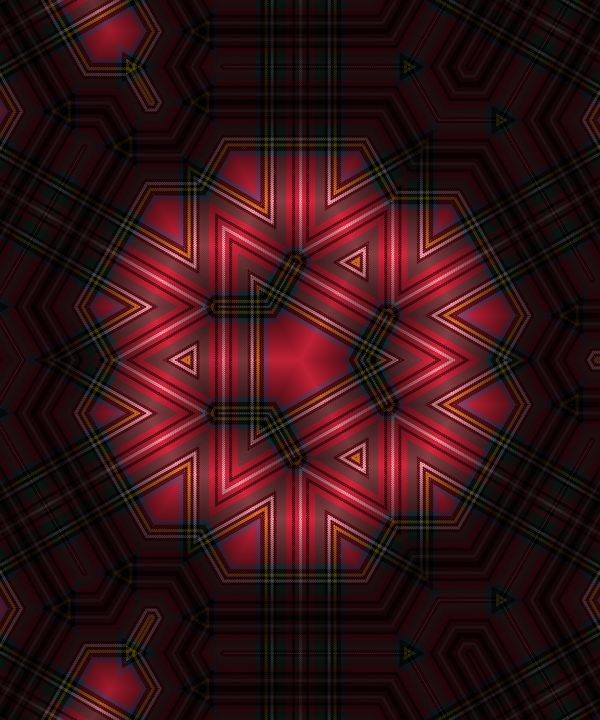 Abstract geometric red pattern - Dimy