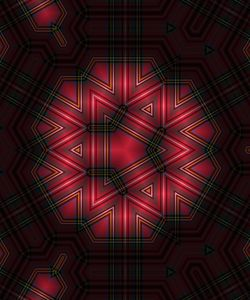 Abstract geometric red pattern
