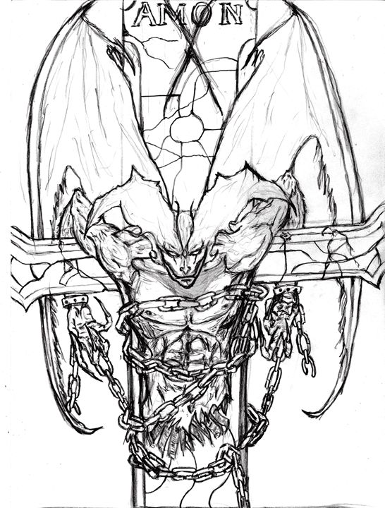 Devilman Amon - Fan Art Sketch - My Art - F.M