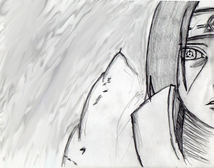 Sasuke Uchiha From Naruto Anime - My Art - F.M
