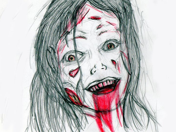 Mia As A Deadite From Evil Dead 2013 - My Art - F.M
