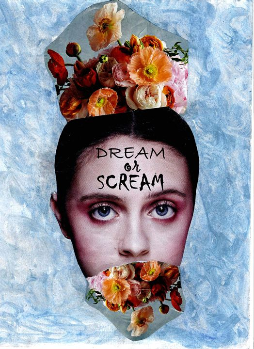 Dream or Scream Mixed Media Print - MadHollowArt