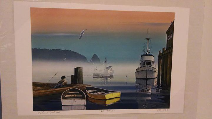 Go Fish - framed and unframed prints