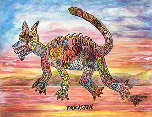 """""""Trixter"""" by KC Krimsin, 2018. Inks."""