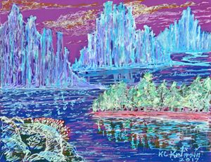 """""""Pink Crystal Lake"""" by KC Krimsin."""