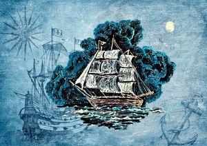 Blue Night Seas by KC Krimsin