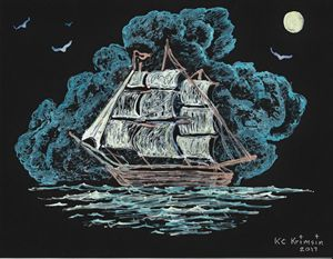 """Blue Night Sails,"" by KC Krimsin"